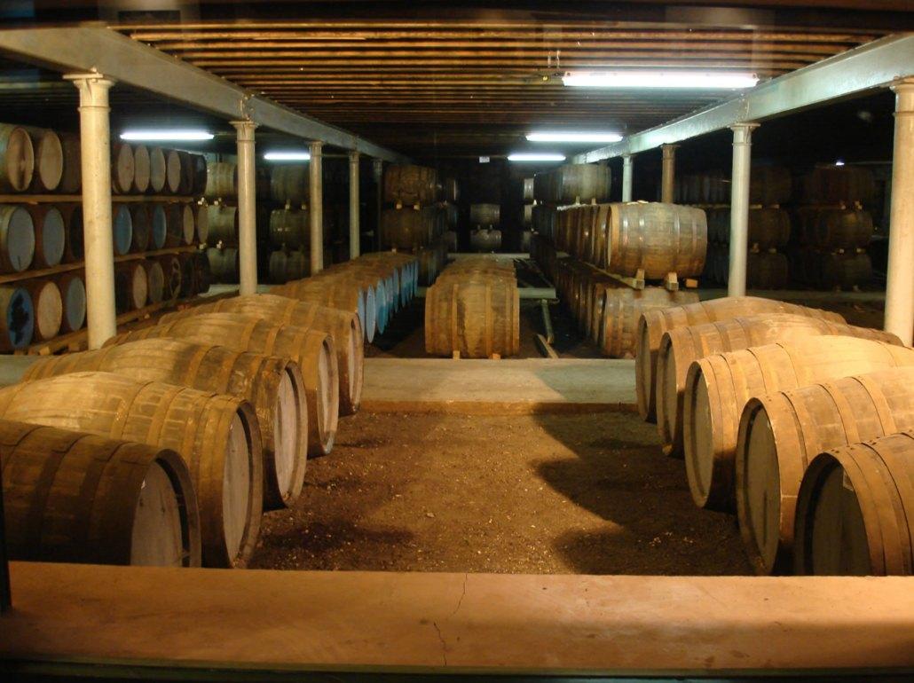 Whisky maturing.